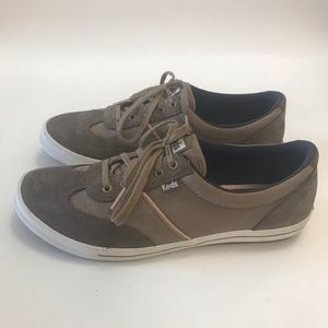 Keds Brown Ortholite Suede Canvas Sneakers 8.5